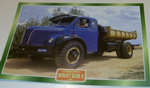 Berliet GLR8 R 1957 Flatbed Tipper truck  Colour framed picture